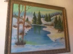 Lindo Quadro com linda paisagem feito em 1981