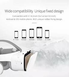 Óculos vr, 3d, com fones bluetooth integrados