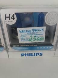 Lâmpada super branca Philips h4