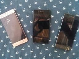 Vendo 3 celulares da marca Sony para retirada de peças