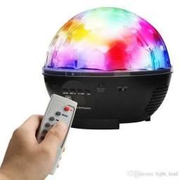 Caixa de Som, Câmera IP, Globo de Luz que Toca Música