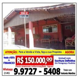 Casa 2 Quartos - Vila Marim - Paraguaçu Paulista-SP