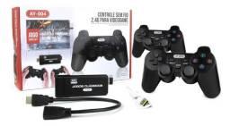 Video Game 4k 3000 Jogos Clássicos 2 Controles Sem Fio