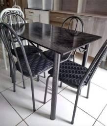 Mesa Cozinha Retangular Com 4 Cadeiras Nova