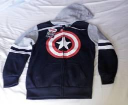 Blusa Moleton Capitão America Licenciado Marvel Caedu Infantil Novo