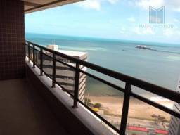 Apartamento com 4 dormitórios para alugar, 230 m² por R$ 4.800,00/mês - Mucuripe - Fortale