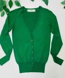 Cardigan Zara Verde tam P