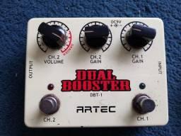 pedal dual booster - artec #só para venda#