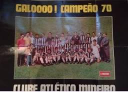 Pôster gigante atletico mineiro Campeão Mineiro 1970