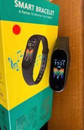 ? Atenda ligações e Controle sua playlist direto do bracelete Smartband M5