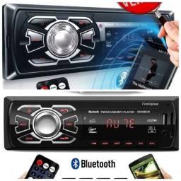 Aparelho som automotivo bluetooth radio toca cd
