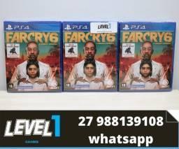 Título do anúncio: Jogo Far Cry 6 de PS4 novo em Português