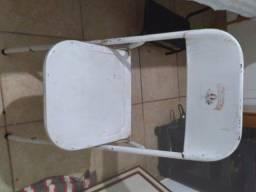 Título do anúncio: Cadeira de bar de ferro branca antiga