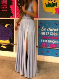 Título do anúncio: Vestido gala azul