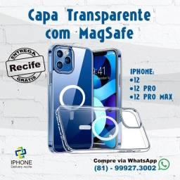 Título do anúncio: Capa Magsafe Transparente 12 12 Pro 12 Pro Max ( Entrega Grátis)