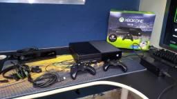 Xbox one fat 500gb com 2 controle Kinect e muito jogos