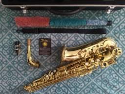 Saxofone Shelter semi novo