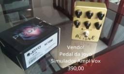 Pedal para guitarra simulador do Ampl vox