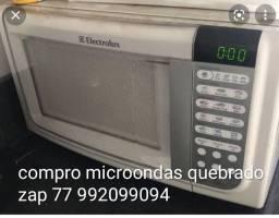Título do anúncio: Microondas compro e faço manutenção