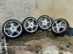 Título do anúncio: Rodas Aro 20 Cromadas Troco em 17 da Fiat Leiam....