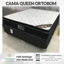 Título do anúncio: Cama Queen molas bonnel + 2 travesseiros (++)