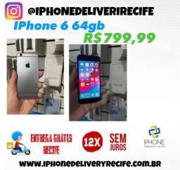 Título do anúncio: IPhone 6 64gb 12 x Sem Juros (Entrega Grátis Recife )