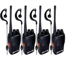 Kit 4 Rádios comunicadores Walk talk Baofeng ENTREGA GRÁTIS