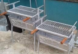 Churrasqueira de Alumínio Fundido Desmontável - *Melhor do Brasil