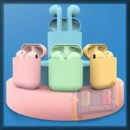 Fone De Ouvido Bluetooth touch AirPods Colorido + Brinde