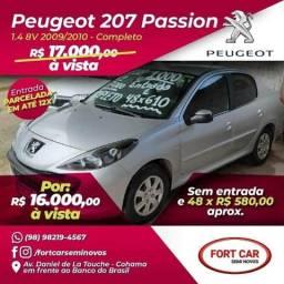 207 sedan passion 1.4: sem entrada 48x 580 aprox - 2010