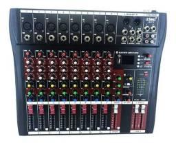 Mesa de som profissional 8 canais com bluetooth