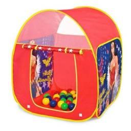 Cabana Barraca Mulher Maravilha Infantil C/25 Bolinhas Fun
