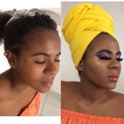 Maquiagem e Tranças afros
