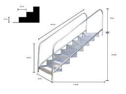 Escada inox para piscina