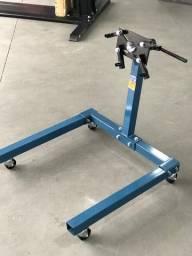 Cavalete para motor 600kg com rodas de ferro riosul