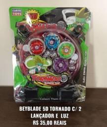BEYBLADE 5D TORNADO C/ 4 + 2 lançadores