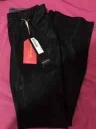 Calça flare NOVA, com etiquetas tricômania tamanho 38