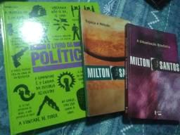Livros: O livro da política e Milton Santos