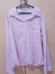 Camisa Xadrez Floral GG