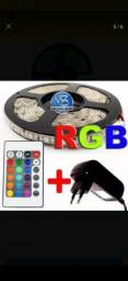 Kit central + fita de led RGB com a fonte de 12V=$65