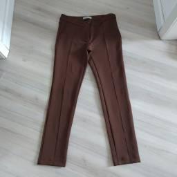 Calça marrom estilo legging confortavel bem molinha