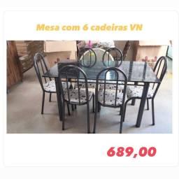 Mesa? com 6 cadeiras ?