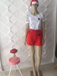 Short e blusa