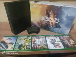 Xbox one S 1TB Edição limitada com jogos (cor Verde oliva)
