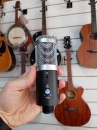 Microfone Condensador USB com saída de fone