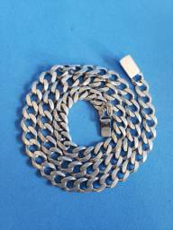 Cordão de prata 68 centimetros grosso
