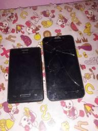 Vendo esses dois celulares para retirada de peça