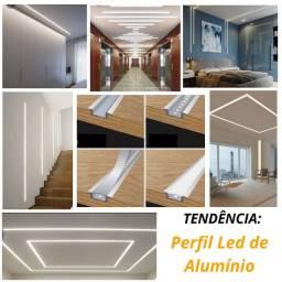 Iluminação - Perfil led de Alumínio