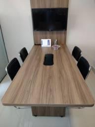 Título do anúncio: Mesa de reuniões com painel e cadeiras