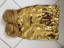 Vestido glamouroso para festas/formaturas/casamentos